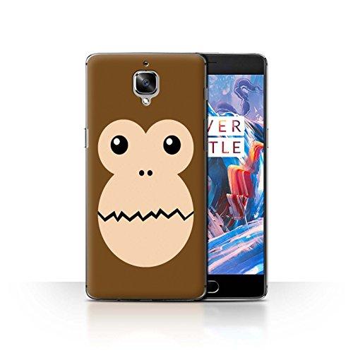 Stuff4®® - Funda para teléfono con diseño de Dibujos Animados Mono OnePlus 3/3T