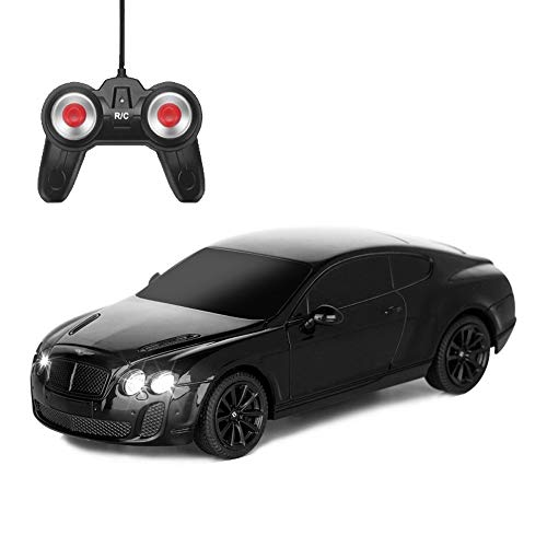 BSQS1 Remote Control Cars, Kids Toys RC Car for Boys Girls 1/24 Scale Model Vehicle Radio Controlled Truck Electronic Sports Racing Stunt Buggy Creative Gifts Gadget Indoor Outdoor Games, Black