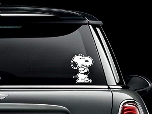 Snoopy knuffelen Woodstock aangepaste auto vrachtwagen Van Window of Bumper Sticker Vinyl Decal