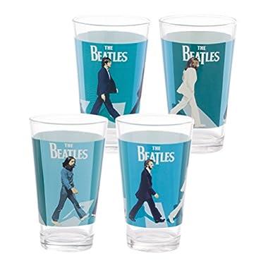 Vandor The Beatles Abbey Road 4 Piece 16 Ounce Glass Set (72012)