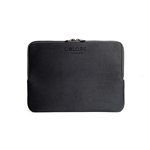 Tucano Second Skin Colore Neopren-Hülle für widescreen Notebooks 43,2 cm (17 Zoll) und 45.7cm (18 Zoll), schwarz