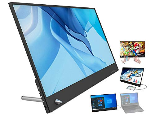 auvisio Display: Superdünner Full-HD-IPS-Monitor, 35,8 cm (14,1