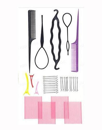 Fishbone Bâton Bricolage Pince À Cheveux Maker Épingles À Cheveux Rouleau Kit Braid Twist Set Éponge Styling Accessoires,A