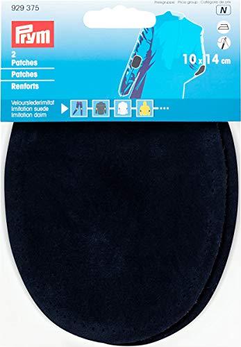 Prym Patches Veloursleder, Flicken zum Aufnähen/Aufbügeln aus Veloursimitat, 14x 10cm, Marineblau, 2Stück