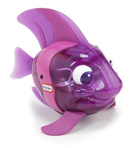 Little Tikes 173851GR Sparkle Bay Funkelfisch Kaiserfisch Wasserspielzeug mit Leucht- und Schwimmfunktion, Badewannenspielzeug für Kinder ab 3 Jahren, lila