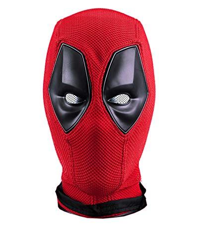 DP Maske Deluxe Rot Full Head Latex Film Helm Halloween Cosplay Superheld Kostüm Zubehör (Typ E)