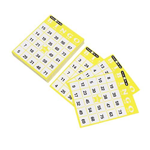 POPETPOP Juego de Bingo para Manualidades Infantiles Tarjetas de Juego de Papel de Bingo Suministros para Fiestas de Cumpleaños