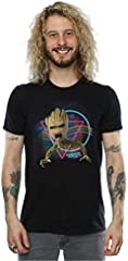 Marvel hombre Guardians of the Galaxy Neon Groot Camiseta