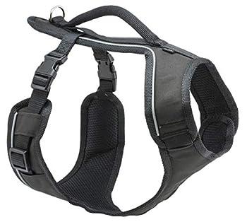 PetSafe - Harnais pour Chien Moyen EasySport (M) avec Poignée de Contrôle - Réfléchissant - Ajustable - Confortable - Rembourré - Noir