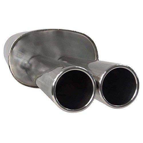 SUPERSPORT Stahl Endschalldämpfer OPEL Corsa C, Typ(en) C, 1.0,1.2,1.4,1.8,1.3CDTI,1.7DI,1.7CDTI (Otto 43,44,55,59,66,92KW Diesel 48,51,55KW), Bj. 09/00-, Frontantrieb - Endrohr(e) 2x 80mm gebördelt, abgeschrägt