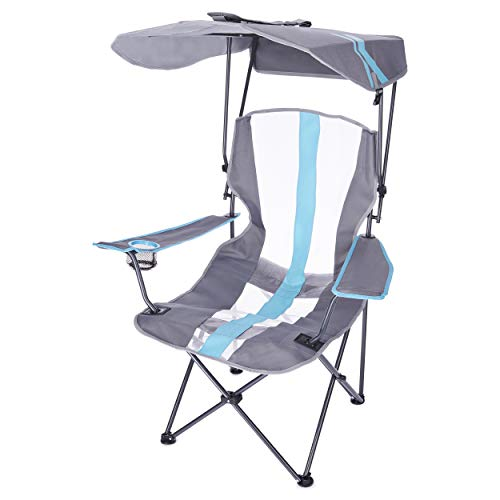 "Kelsyus Original Canopy Chair - Foldable Chair for Camping, Tailgates, and Outdoor Events , Blue, 37"" x 24"" x 58"""