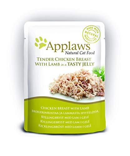Applaws Katzenfutter Huhn mit Lamm in Gelee, 16 x 70 g Beutel