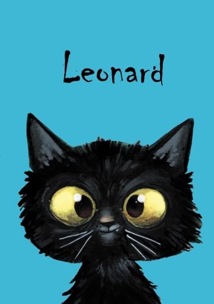 あなたのもの切断する移植Leonard: Leonard - Katzen - Malbuch / Notizbuch / Tagebuch: A5 - blanko
