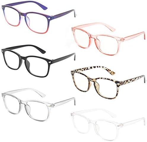 MIGSIR 6 Pack Blue Light Blocking Glasses for Computer Gaming Fashion Fake Anti Eye Strain Eyeglasses product image