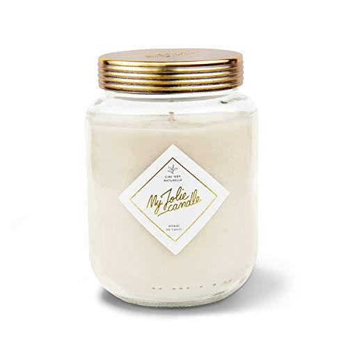 MY JOLIE CANDLE • Bougie Parfumée Grande Jarre • Parfum Monoï de Tahiti • 120 Heures • Cire Naturelle 100% Végétale