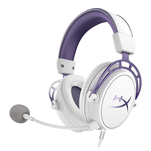 HyperX Cloud Alpha - Gaming Headset for PC, PS4, Xbox One & Nintendo Switch - Limited Edition White/Purple