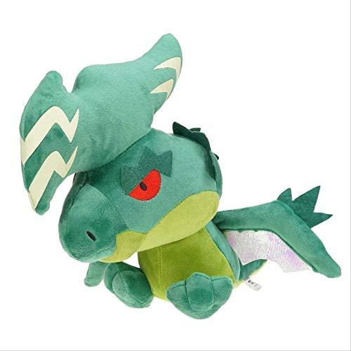 DINGX Anime Peluche Juguete 30 cm Lindo Verde eléctrico dragón muñeca decoración de Familia bebé Juguetes Juguetes Juguetes kidsx Vacaciones chuanze