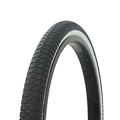 Fenix Cycles Wanda Vendetta Tread Bicycle Tire 20 x 1.75, for Bikes, Black/White Sidewall