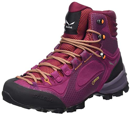 Salewa WS ALPENVIOLET MID GTX, Damen Trekking- & Wanderstiefel, Rot (Red Plum/orange Popsicle 6895), 38.5 EU (5.5 UK)
