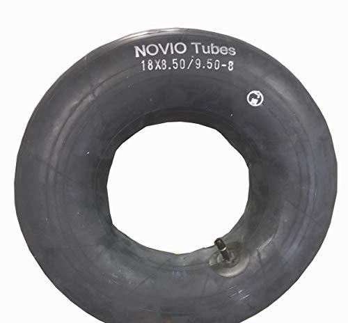 Schlauch 18 x 8.50-8/9.50-8 passend für Reifen für Aufsitzmäher Rasenmäher, gerades Ventil