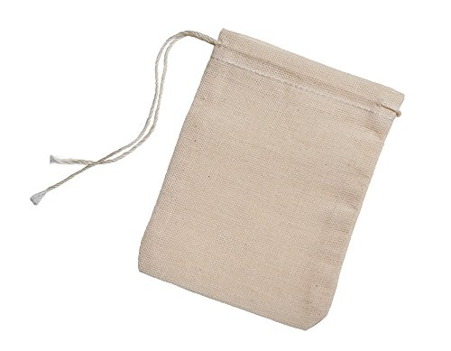 Cotton Muslin Bags 3x4 Inch Drawstring 25 Count Pack