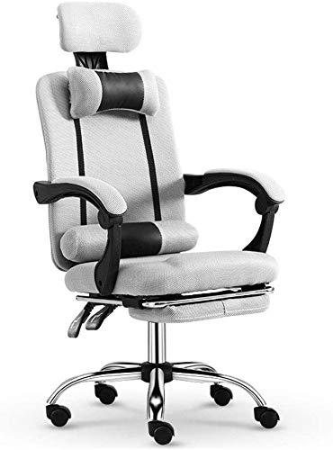SXLZ Gaming Racing Chair Computer Video Chair Verstellbarer Ergonomischer Hochleistungsstuhl Mit Fußstütze Und Lordosenstütze Für Ultimatives Spielerlebnis,Grey