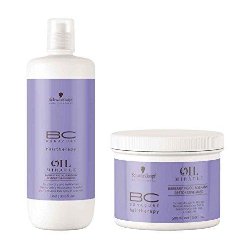 Schwarzkopf bonacure BC Oil Miracle kaktusfeigenöl schampoo 1000 ml + traitement 500 ml