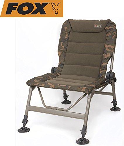 Fox R1 Camo Chair Angelstuhl, Anglerstuhl, Karpfenstuhl, Campingstuhl, Stuhl zum Angeln für Angler