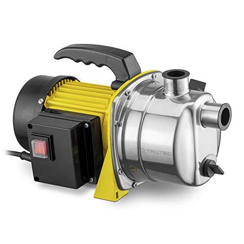 TROTEC Gartenpumpe TGP 1000 ES Wasserpumpe Rasensprenger 1.000 Watt Leistung 3.300 l/h Förderleistung