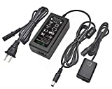 Gonine AC-PW20 AC Power Supply Adapter and DC Coupler Charger Set, Replace NP-FW50 Battery for Sony Alpha A6500, A6400, A6300, A7, A7II, A7RII, A7SII, A7S, A7S2, A7R, A7R2, A55, A5100, RX10 Cameras.