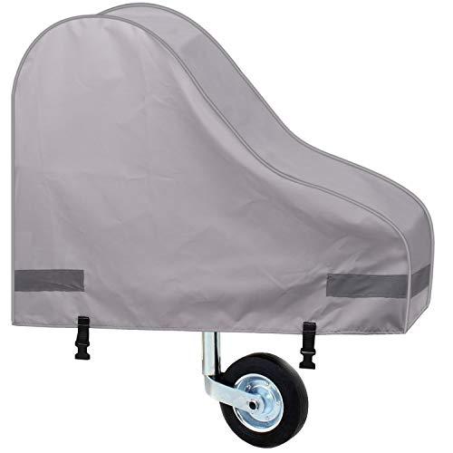 Asteri Abdeckung für Anhängerkupplung (grau) Universal Abschleppzubehör Schutz Wasserdicht Caravan Deichsel Anhänger Abdeckung mit Riemen