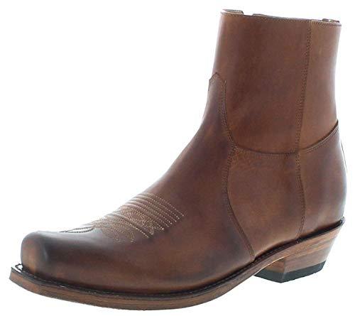 Sendra Boots Herren Stiefelette 7826 Tang Lederstiefel Braun 41 EU