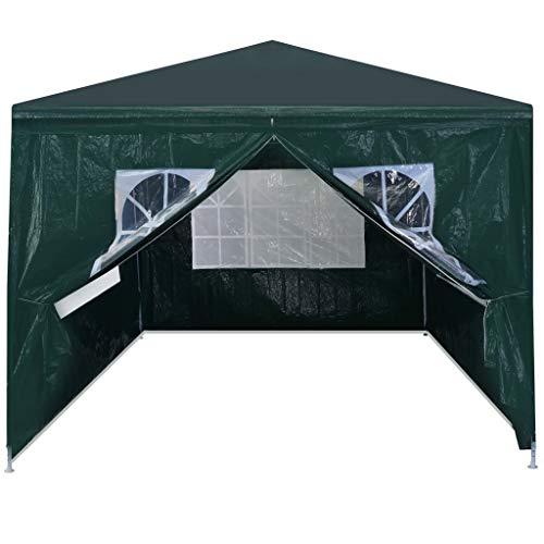 Festnight Partytent Waterdichte Canopy Garden Gazebo Marquee Tent voor Outdoor Wedding Garden Party 3x4 m groen