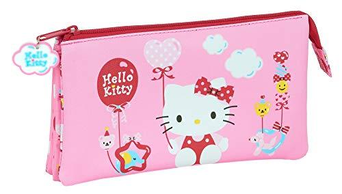 Astuccio triplo di Hello Kitty, 220 x 30 x 120 mm