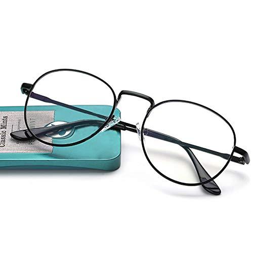 VIWIV 2019 New College Retro Literary Metaal rond gezicht Veelzijdig platte spiegel Unisex brilmontuur Myopie