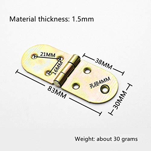 WHLJKN bisagra,2 piezas Aumento de engrosamiento Equipo de bisagra de aleta Bisagra de aleta Tipo de mesa Bisagra de hierro plegable abatible, plata