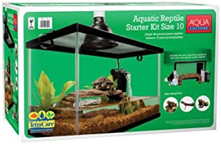 10 Gallon Aquarium Starter Kit Fish Reptile Turtle Habitat Tank Filter Lamp Lid