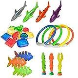 J-ouuo Juguetes de buceo, 26 piezas de juguete de buceo en piscina,...
