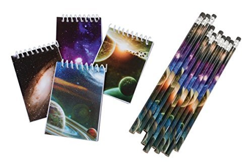 Nikki's Knick Knacks Space Notebooks and Pencils- 48 Pieces