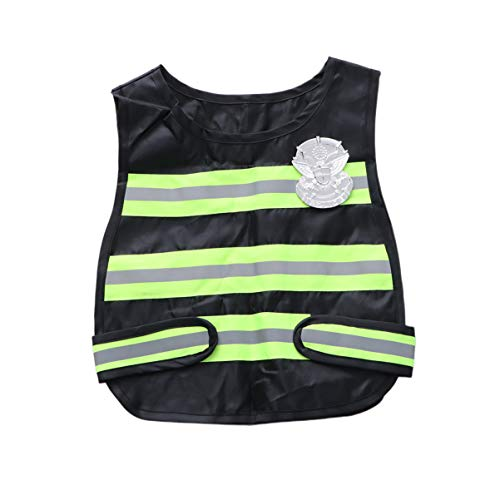 TOYANDONA Oficial de policía Vestuario Infantil Chaleco Reflectante policía niños Cosplay Juego de Roles