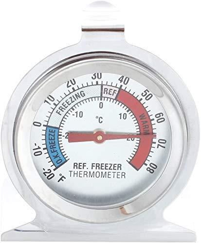 hwljxn Edelstahl-Gäste-Thermometer für Kühlschrank Kühlschrank mit Gefrierschrank