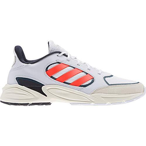 adidas 90s VALASION, Zapatillas de Running Hombre, Dash Grey/Solar Red/Chalk White, 44 EU