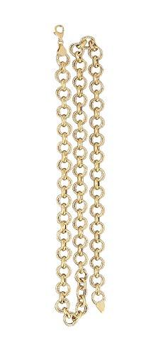 Goldkette 585 große runde Glieder super Halskette 14 Karat Collier Gold 62 cm Hobra-Gold