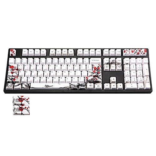 Bayda 110 teclas PBT Keycap tinte-sublimación flor ciruela cereza perfil clave tapa DIY teclado mecánico teclado teclado conjunto coreano
