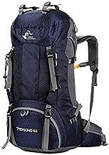 حقيبة ظهر قابلة للطي ذات سعة كبيرة مقاومة للماء من 60 لتر للاستخدام في الهواء الطلق من أجل السفر في رحلات التخييم والتخييم