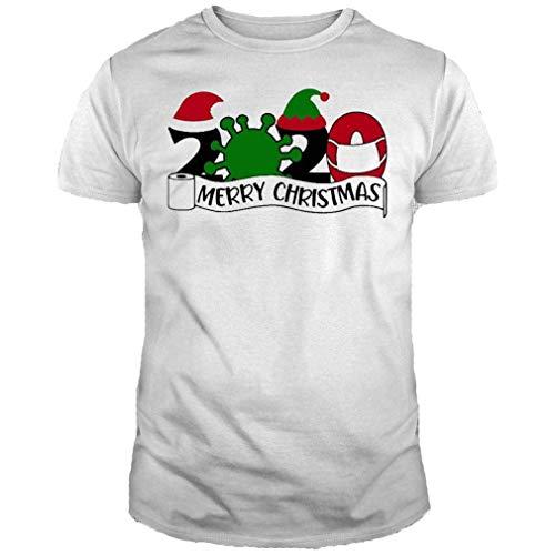 Tee for Men, Women Cor_onav_irus 2020 Merry Christmas Shirt, Hoodie, Tank top, Sweater and Long Sleeve t-Shirt Black