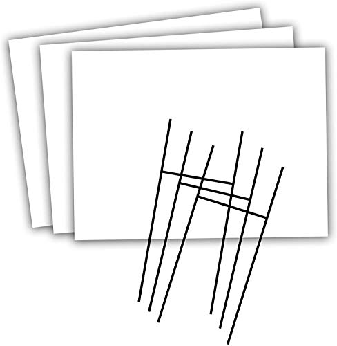 Headline Sign - Blank Yard Sign and H-Frame Ground Stake Sign Holder Set, White, 18 x 24 Inches, 3-Pack Value Pack (5514)