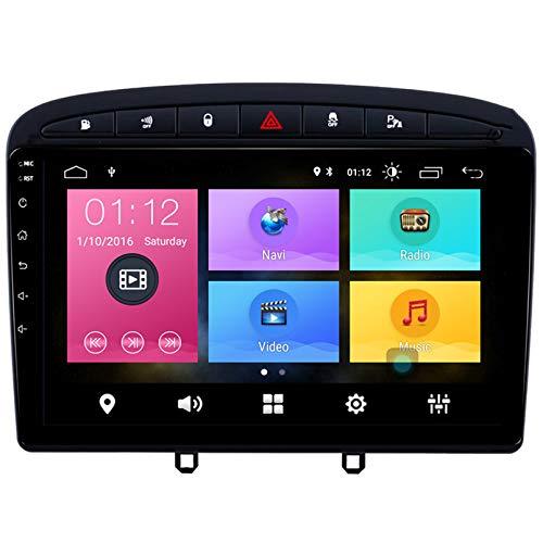 Android 2.5D Pantalla Táctil Estéreo Para Automóvil Navegación Por Satélite Radio FM AM DVD Control Del Volante Reproductor De Video Multimedia WIFI Bluetooth Navegación GP(Color:4 core WIFI 1+16G)