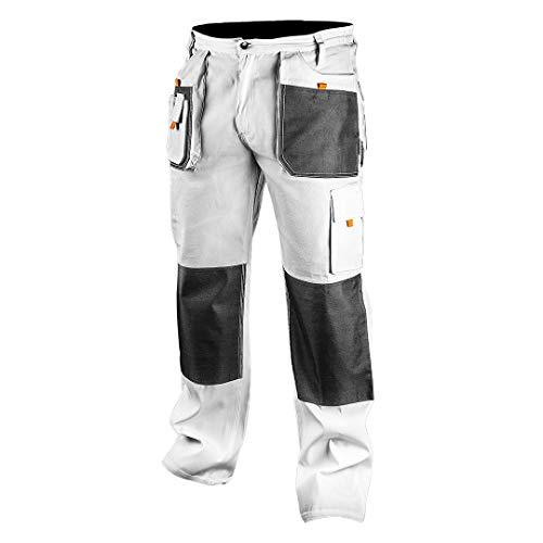 NEO TOOLS Topex Profi Arbeitshose weiß Sicherheitshose Arbeitskleidung Berufsbekleidung Bundhose Malerhose Hose S-XXL (XL)