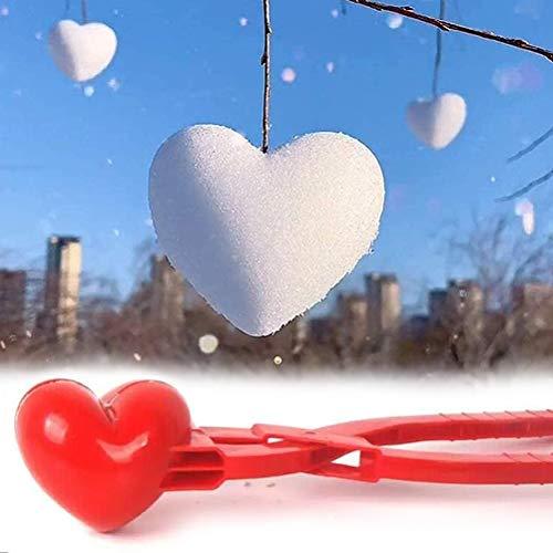KENANLAN Herz Schneeball Maker Winter Schneeball Form Spielzeug Kunststoff Sandball Schneeball Clip für Kinder im Freien Spielen Schnee